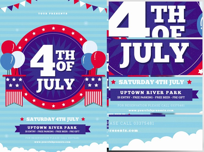 4th Of July Templates Free Beautiful 4th Of July Flyer Template 3 Flyerheroes