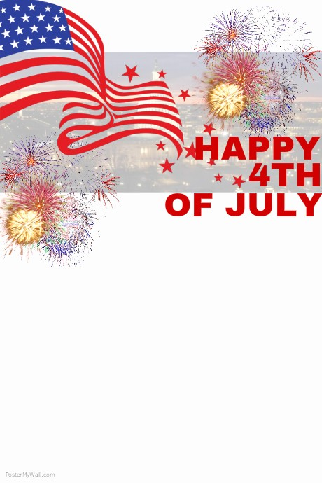 4th Of July Templates Free Beautiful 4th Of July Template