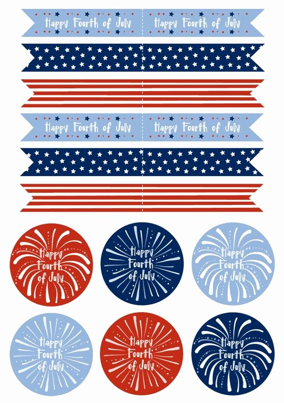 4th Of July Templates Free Beautiful Freebie Friday 30 Amazing 4th Of July Free Printables