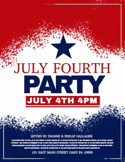 4th Of July Templates Free Beautiful July Fourth Template