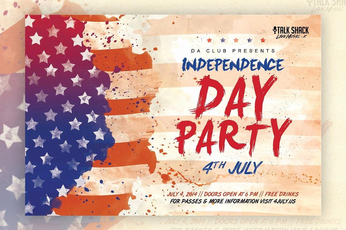 4th Of July Templates Free Beautiful Veteran S Day & 4th Of July Flyer Flyer Templates