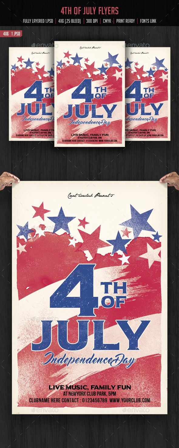 4th Of July Templates Free Best Of 4th Of July Flyer