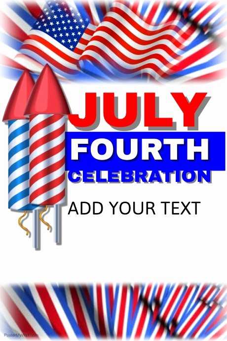 4th Of July Templates Free Best Of 4th Of July Template