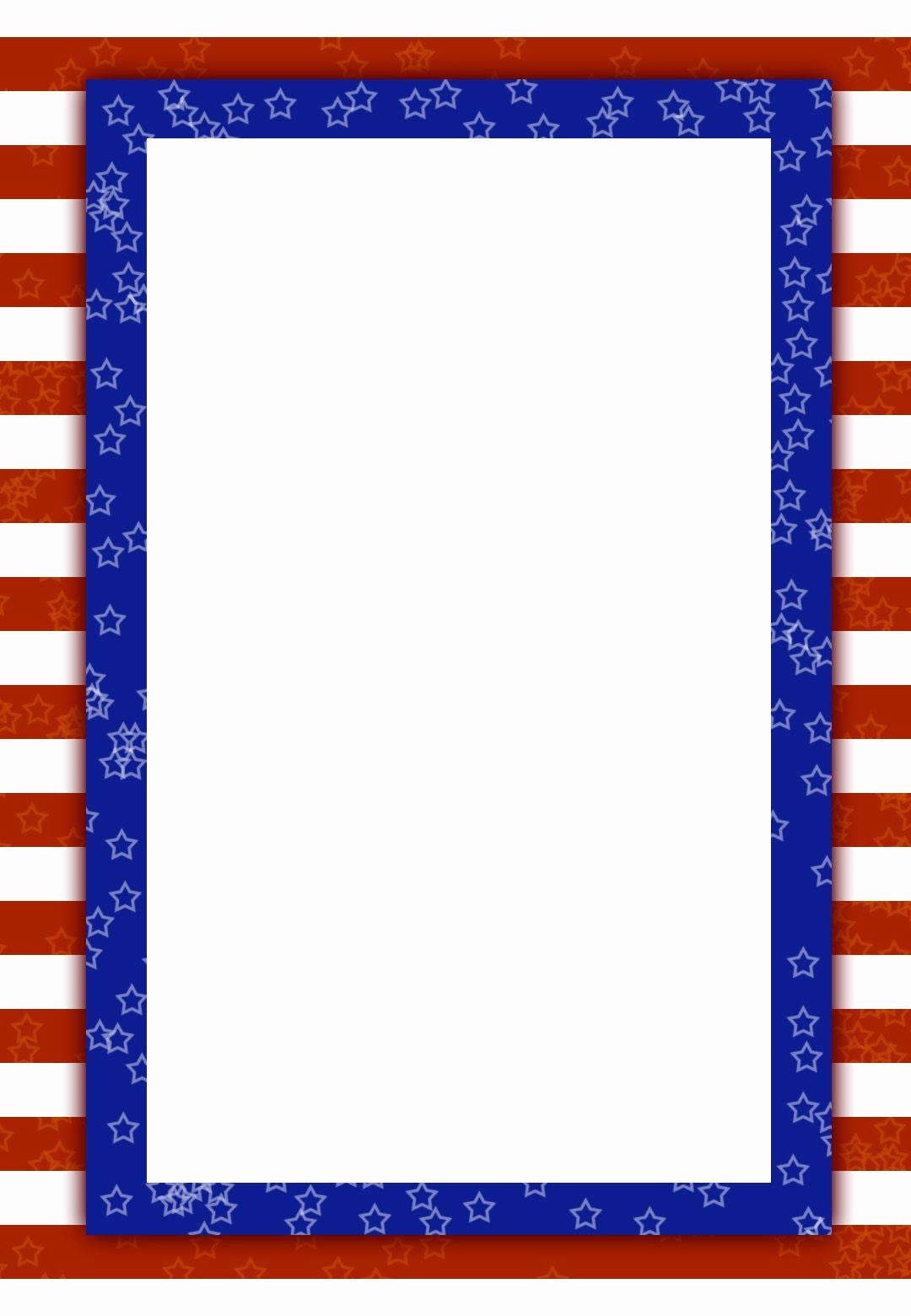 4th Of July Templates Free Best Of Free Printable Patriotic Invitation