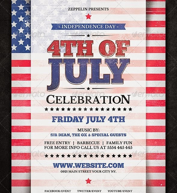 4th Of July Templates Free Elegant 20 Best Design Psd Posters and Flyer