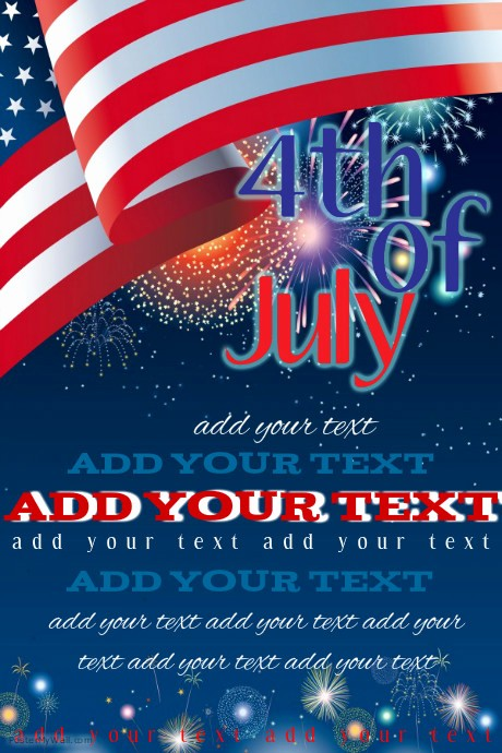 4th Of July Templates Free Elegant Fourth Of July event Flyer Template