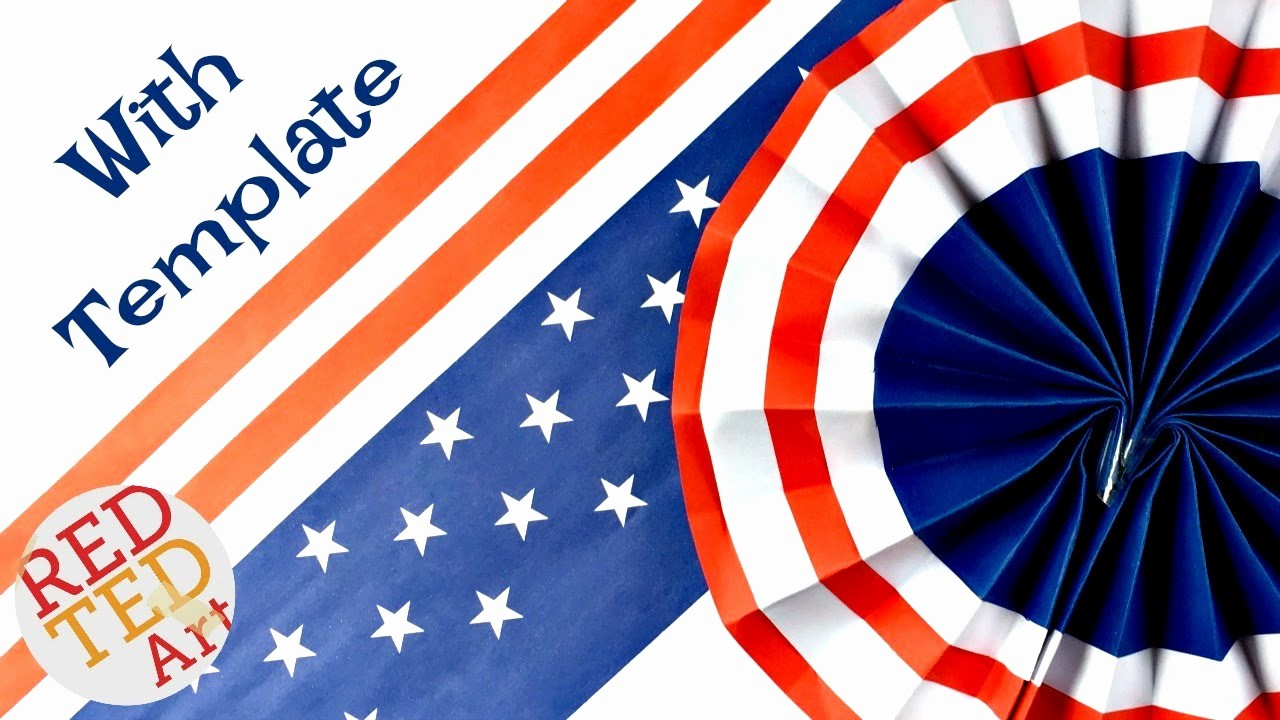 4th Of July Templates Free Fresh 4th July Paper Fans Templates Free Printable Easy