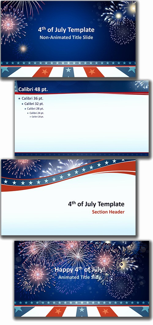 4th Of July Templates Free Fresh Free Powerpoint Template 4th Of July theme