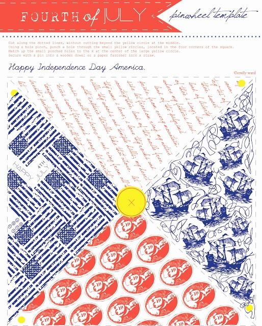 4th Of July Templates Free Fresh Sissyprint 4th Of July Pinwheel