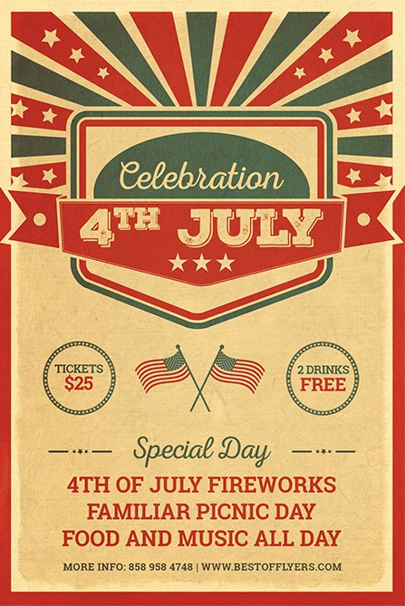 4th Of July Templates Free Inspirational 4th July Celebration Free Poster Template Free Flyer for