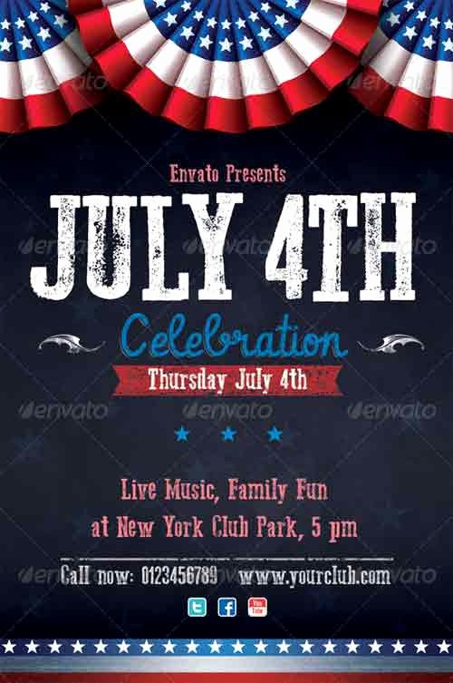 4th Of July Templates Free Inspirational Fourth July Flyer Free 4th July Flyer Templates