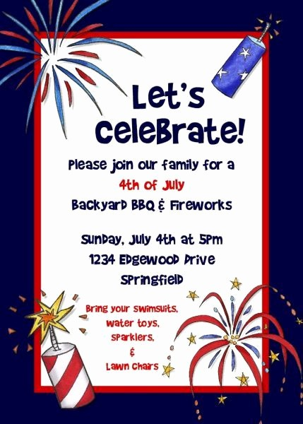 4th Of July Templates Free Lovely Fourth July Invitation Free Printable 4th July Free