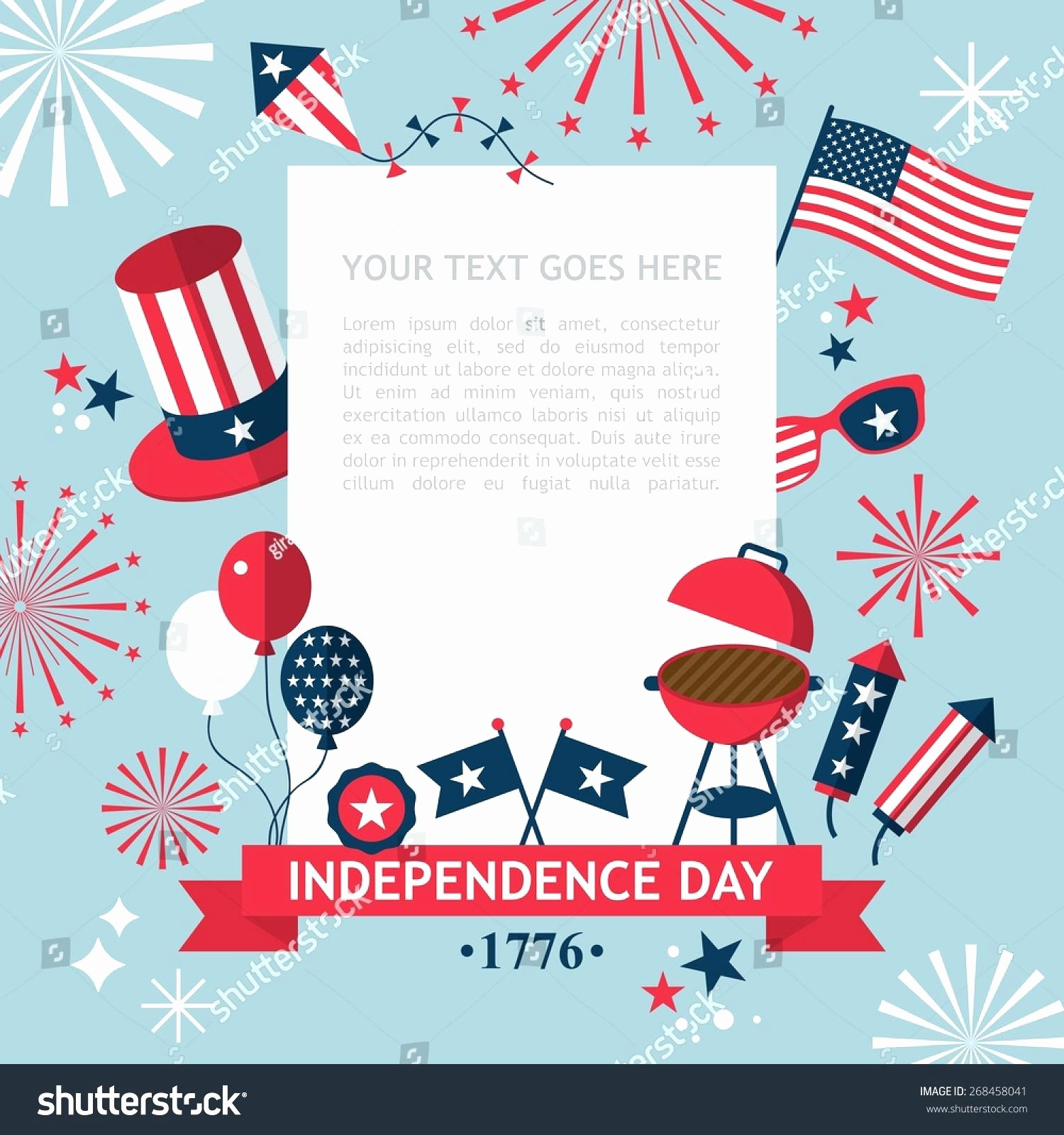 4th Of July Templates Free Lovely Template 4th July Invitation Template