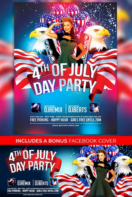 4th Of July Templates Free Luxury 4th July Poster and Flyer Psd Template Download Free