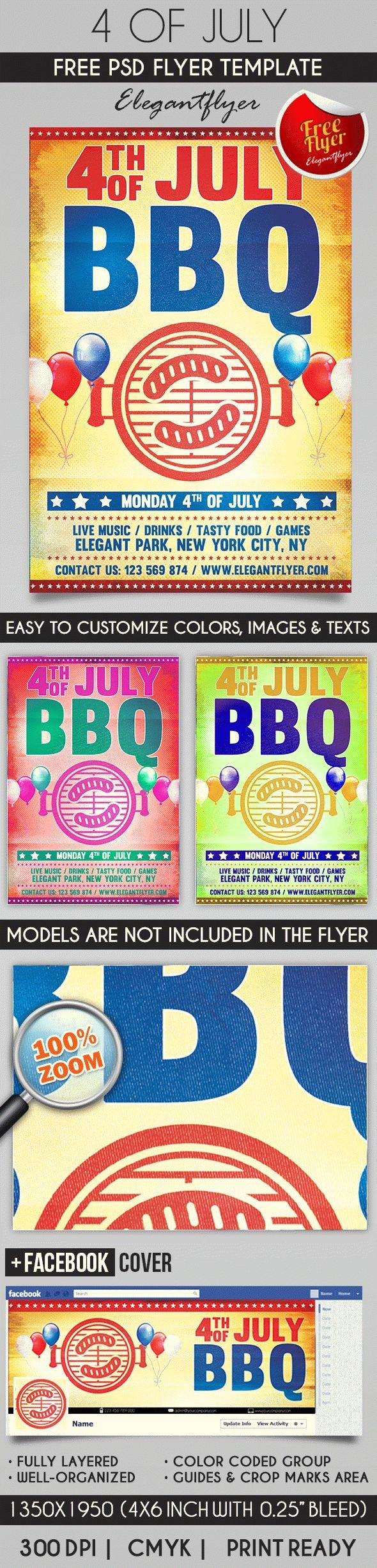 4th Of July Templates Free Luxury Flyer for 4th Of July Bbq – by Elegantflyer