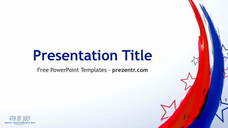 4th Of July Templates Free Luxury Free 4th Of July Powerpoint Template Prezentr Ppt Templates