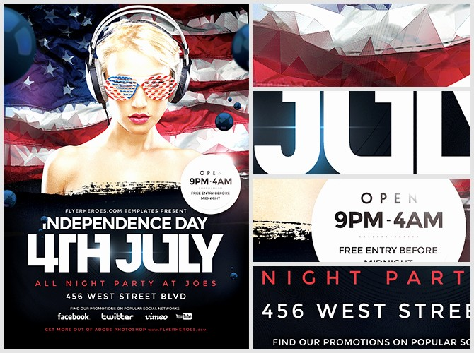 4th Of July Templates Free Luxury Geometric 4th July Flyer Template Flyerheroes
