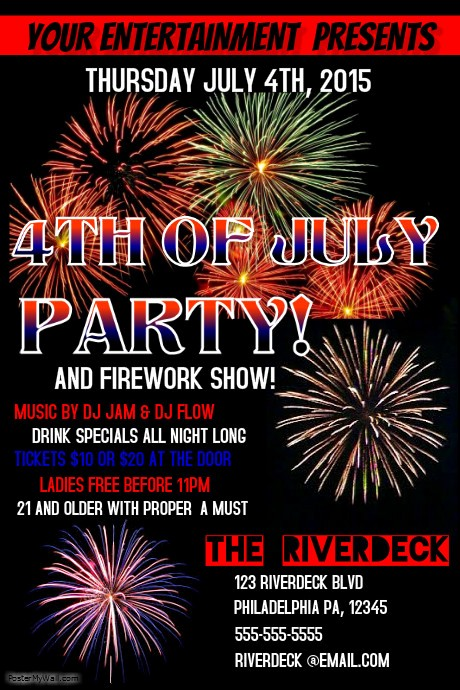 4th Of July Templates Free Unique 4th Of July Template