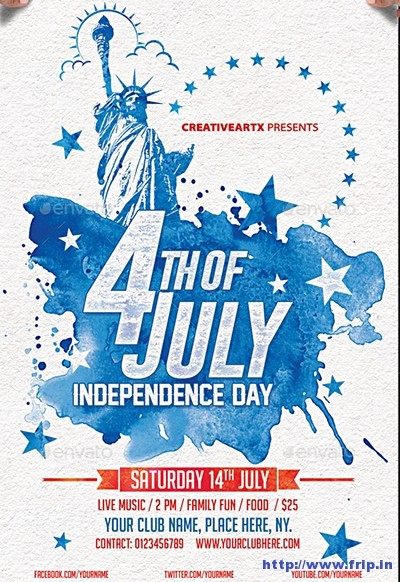 4th Of July Templates Free Unique 60 Best 4th Of July U S Independence Day Flyers Print
