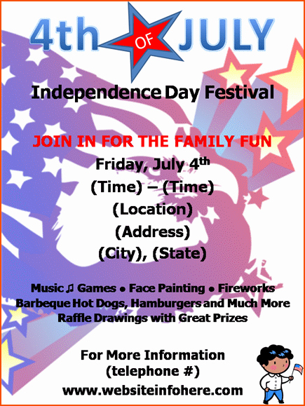 4th Of July Templates Free Unique 8 4th Of July Flyer Bookletemplate