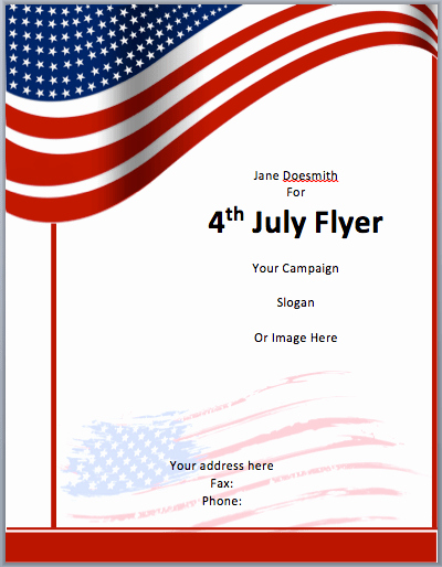 4th Of July Templates Free Unique American Flyer Template 4th July Free Flyer Templates
