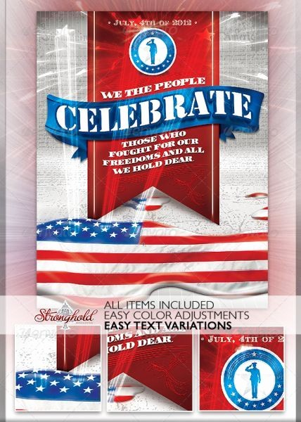 4th Of July Templates Free Unique Patriotic 4th July Flyer Template 4th July Flyers