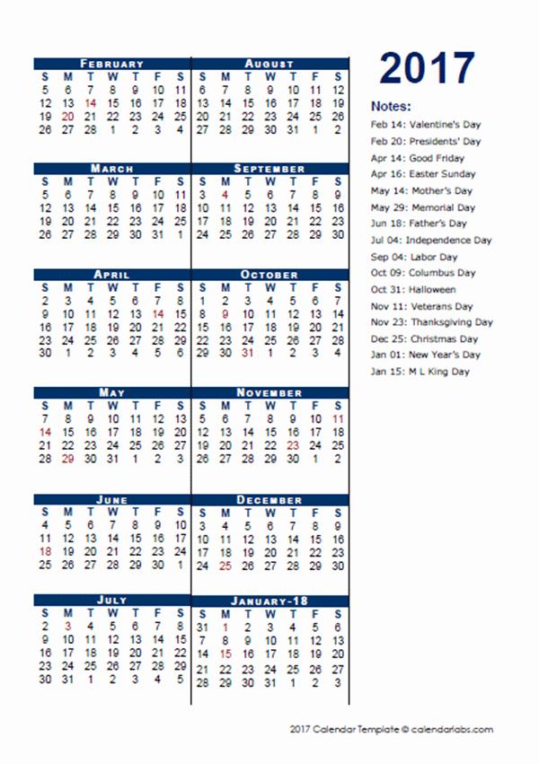 5 Day Calendar Template Word Fresh 2017 Fiscal Period Calendar 4 4 5 Free Printable Templates