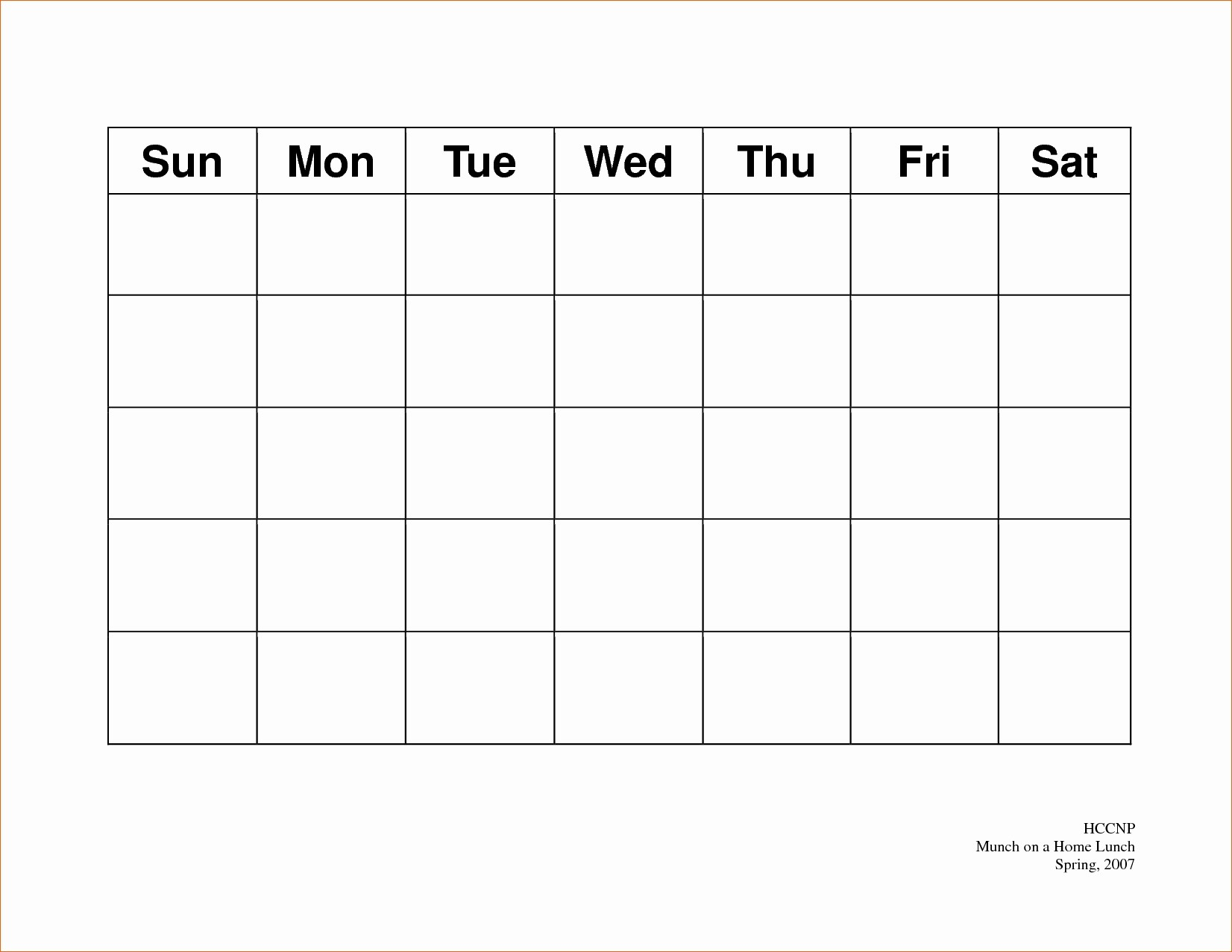 5 Day Calendar Template Word Fresh 5 Day Weekly Calendar Template