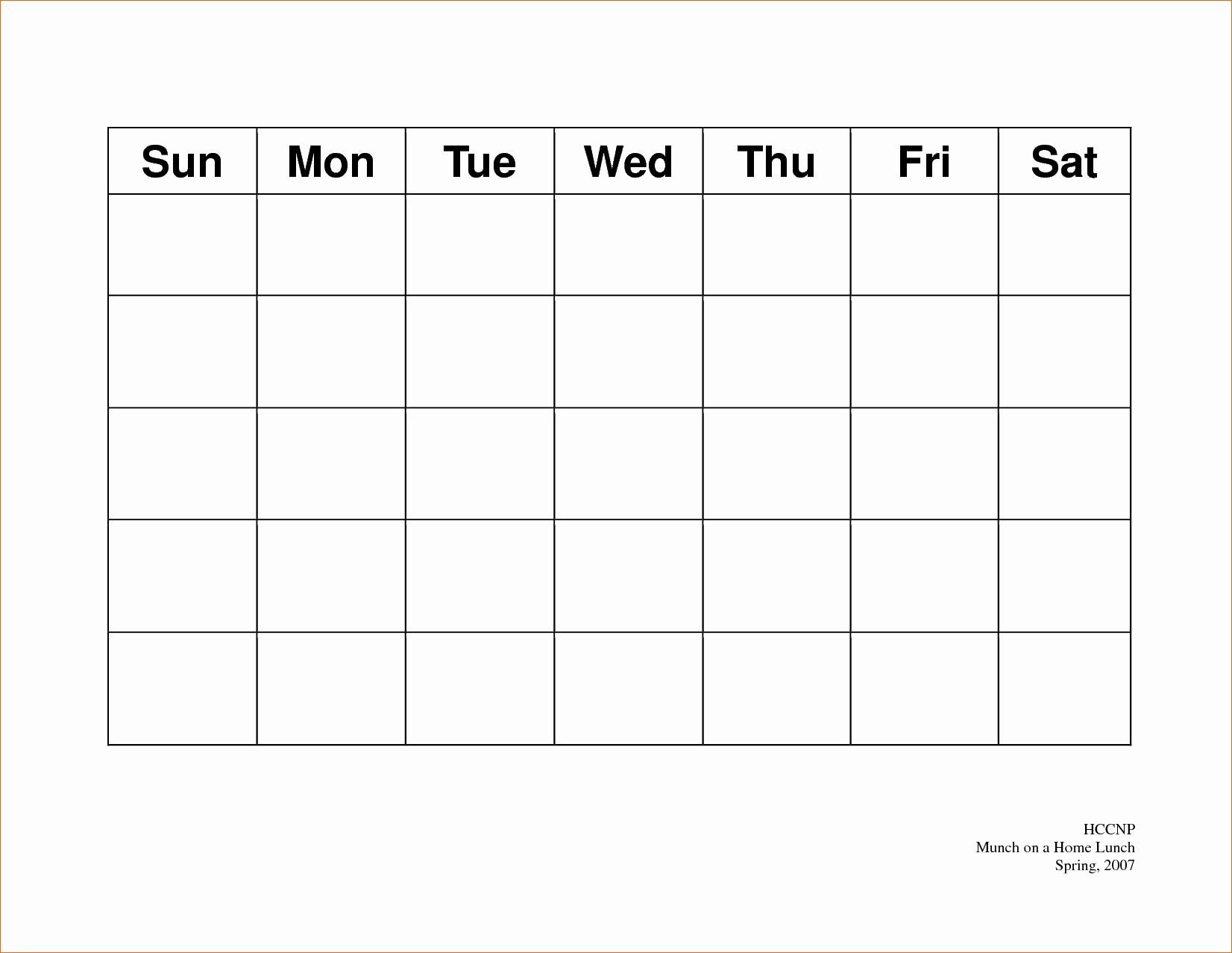 5 Day Calendar Template Word Fresh 5 Day Weekly Calendar Template
