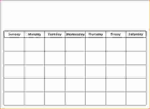 5 Day Calendar Template Word Fresh 7 5 Day Calendar Template