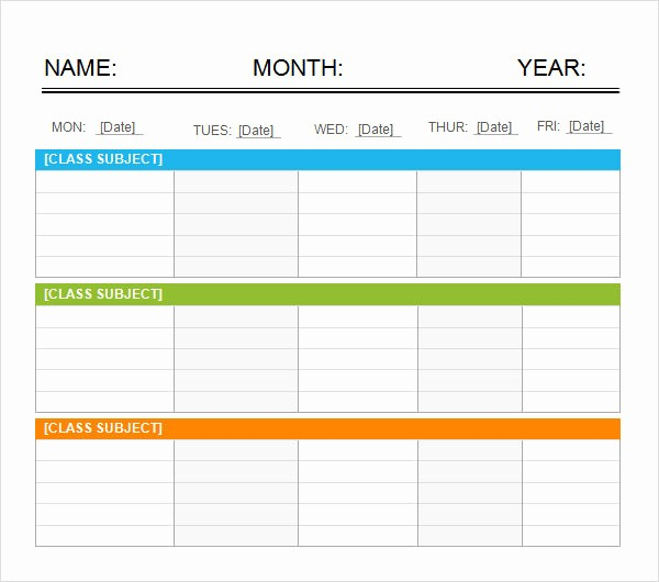 5 Day Calendar Template Word Fresh Weekend Schedule 7 Free Pdf Doc Download