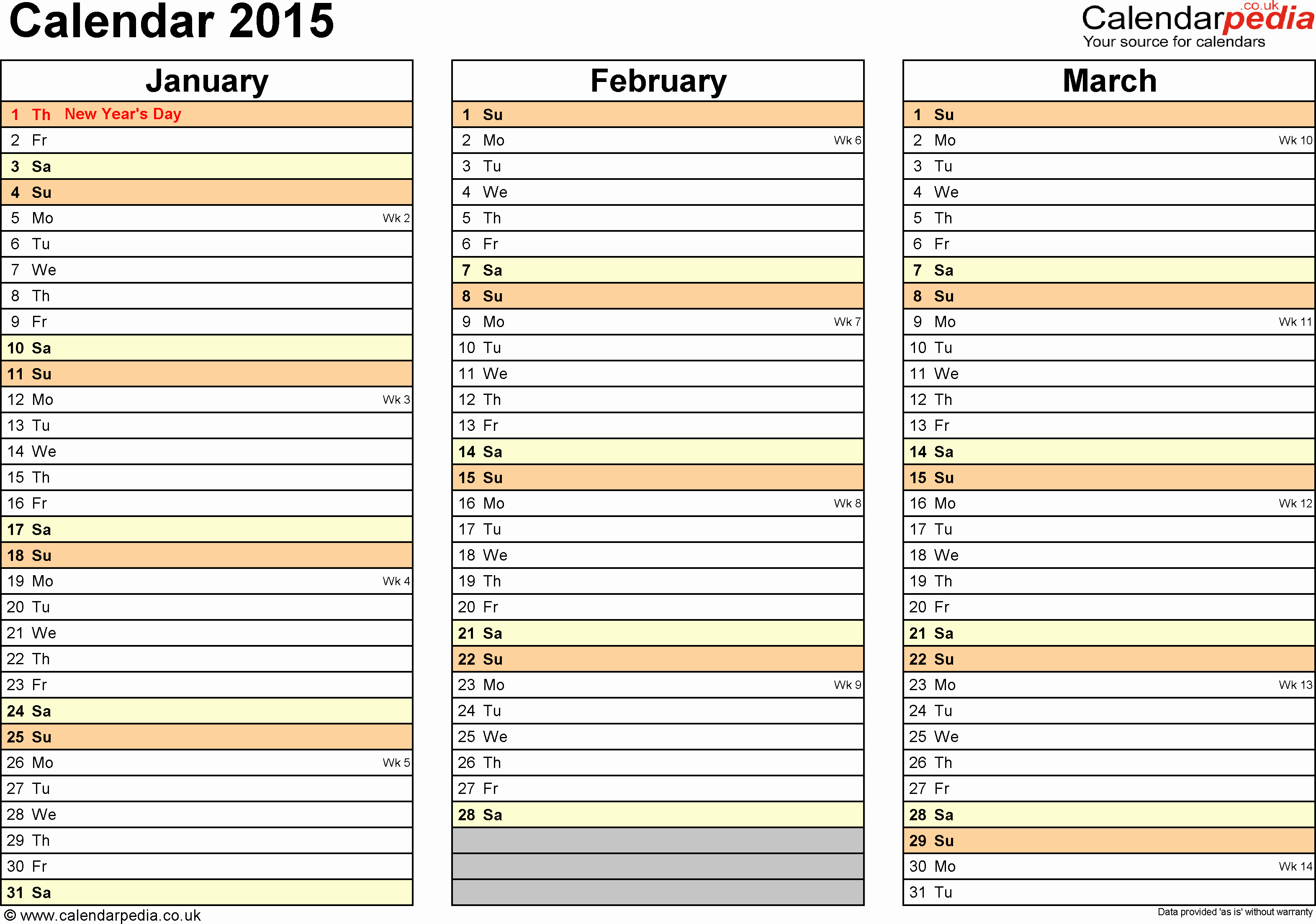 5 Day Calendar Template Word Inspirational Calendar 2015 Uk 16 Free Printable Word Templates