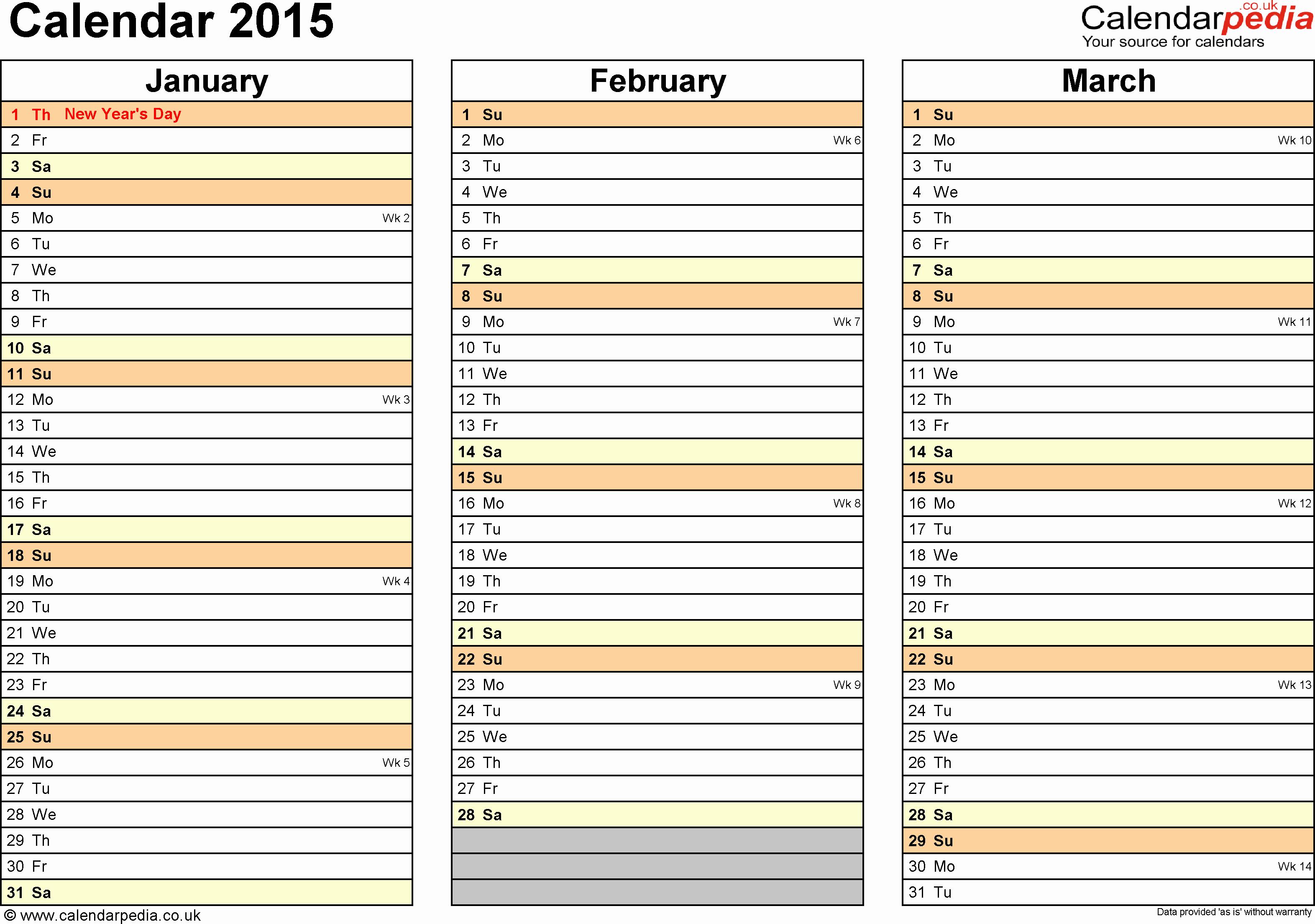 5 Day Calendar Template Word Inspirational Calendar 2015 Uk 16 Free Printable Word Templates