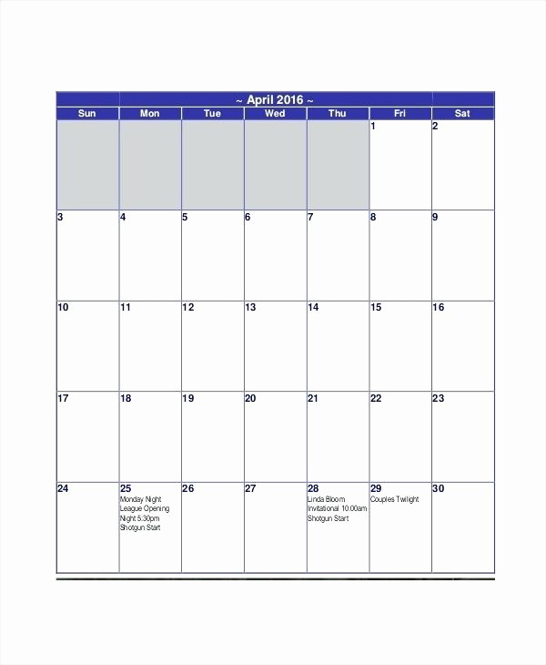 5 Day Calendar Template Word Inspirational Days the Week Calendar Template Printable 5 Day Excel