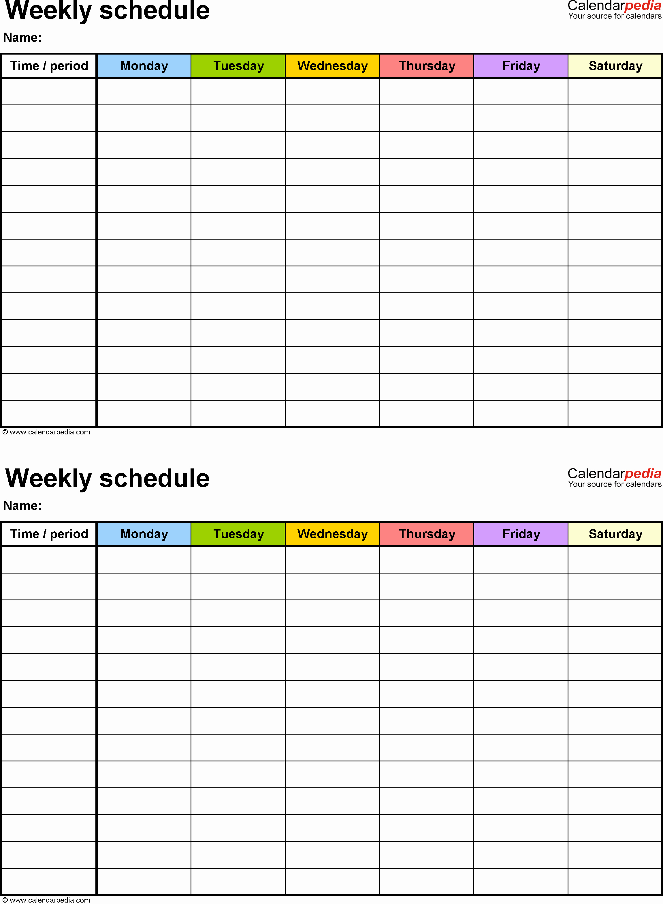 5 Day Calendar Template Word Inspirational Weekly Schedule Template for Word Version 9 2 Schedules