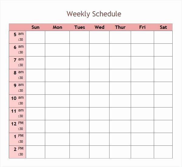 5 Day Calendar Template Word Lovely Days the Week Calendar Template Printable 5 Day Excel