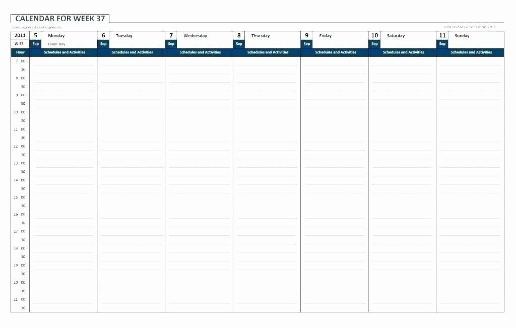 5 Day Calendar Template Word New 5 Day Work Week Calendar Template Weekly Schedule