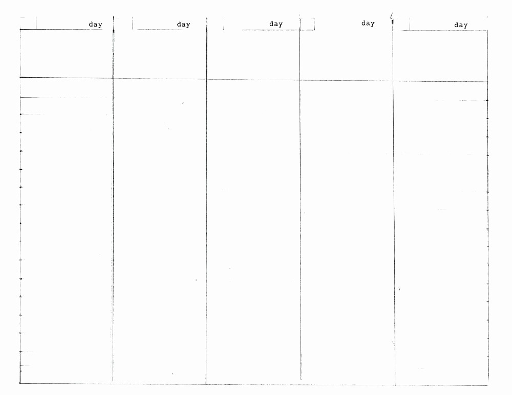 5 Day Calendar Template Word New Days the Week Calendar Template Printable 5 Day Excel