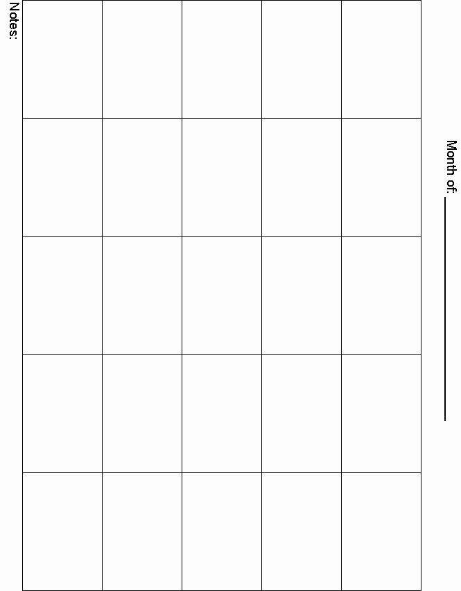 5 Day Calendar Template Word Unique Printable 5 Day Calendar 2016