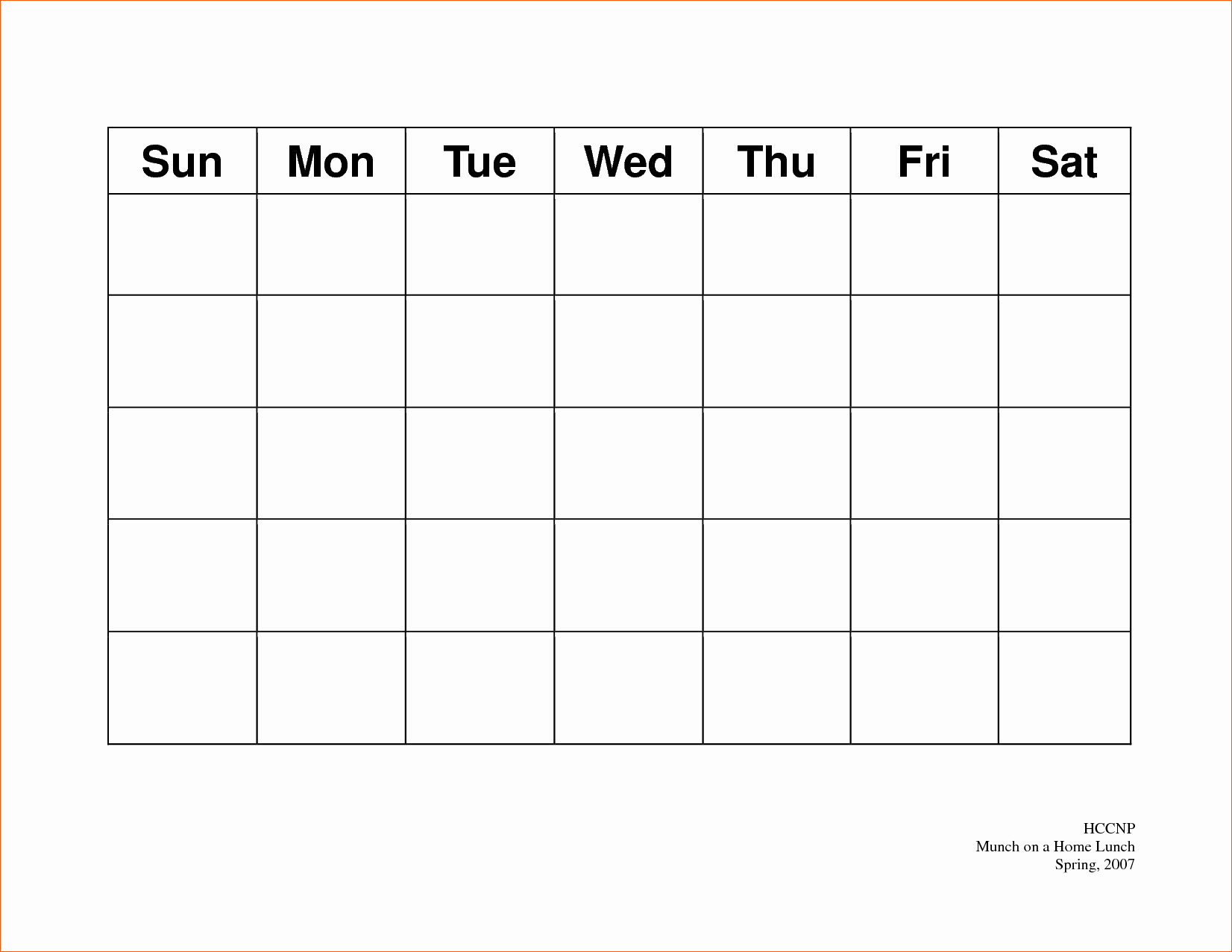 5 Day Weekly Calendar Template Awesome 7 5 Day Calendar Template