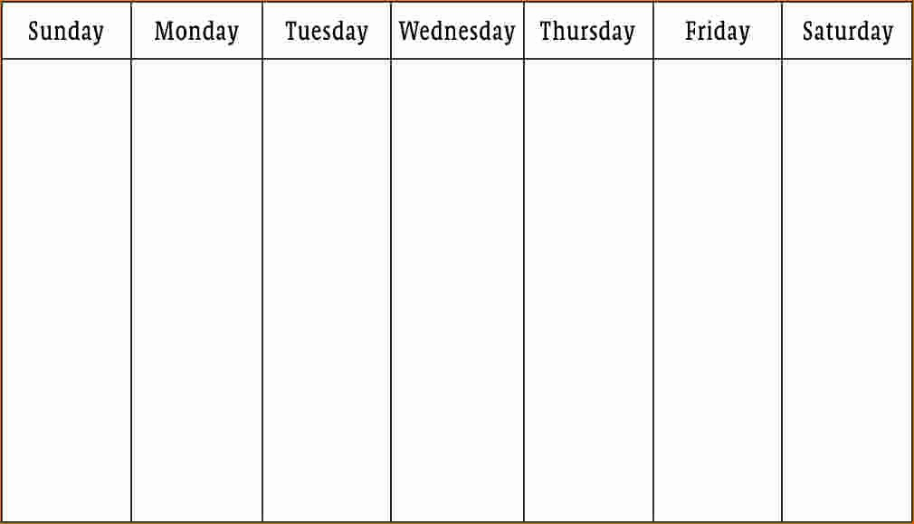 5 Day Weekly Calendar Template Elegant 3 Work Week Calendar Template