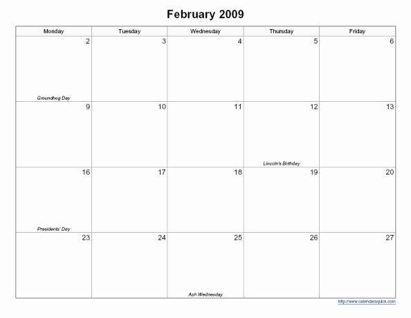 5 Day Weekly Calendar Template Inspirational 9 Best Of Printable Bi Weekly Calendar Template