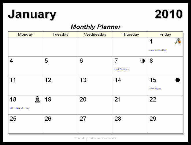 5 Day Weekly Calendar Template Inspirational Monthly Calendars