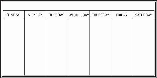 5 Day Weekly Calendar Template Lovely Weekly Calendar Whiteboard