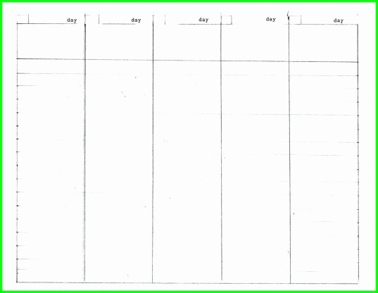 5 Day Weekly Calendar Template New 5 Day Week Blank Calendar Printable