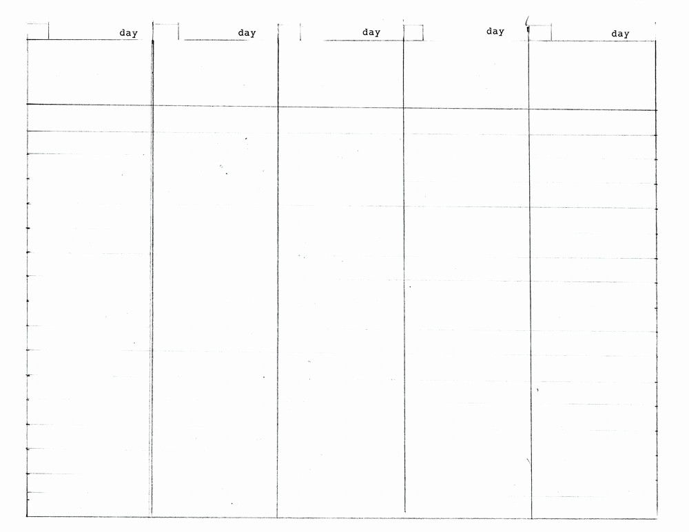 5 Day Weekly Calendar Template Unique 8 Best Of 5 Day Week Blank Calendar Printable 5