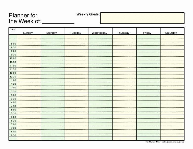5 Day Weekly Calendar Template Unique Monthly 5 Day Calendar Template Excel Free Calendar Template