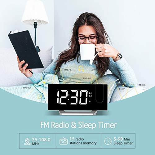 5 Minute Timer with sound Awesome Mpow Projection Alarm Clock with 5 Inch Led Curved Screen