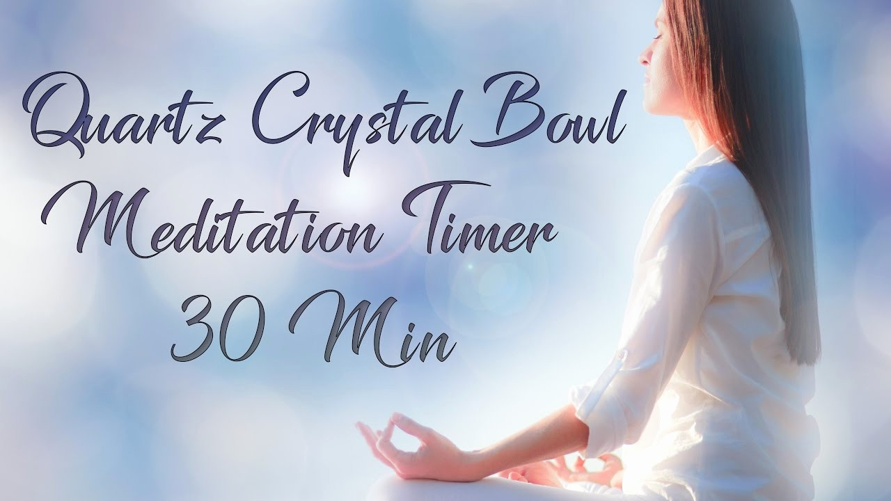 5 Minute Timer with sound Elegant 30 Minute Meditation Timer with sound Healing Crystal