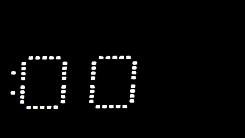 5 Minute Timer with sound New Minute Countdown by Seconds Stock Footage Video